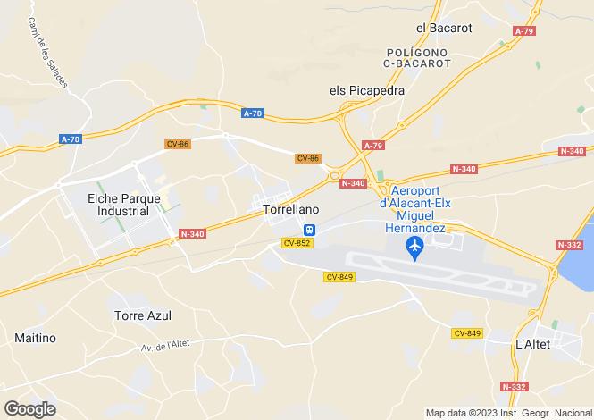 Map for Elche, Alicante