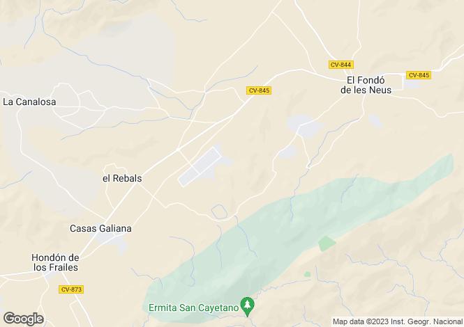 Map for Hondón de las Nieves, Alicante, Valencia