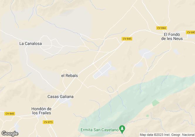 Map for Hondon De Las Nieves, Alicante, Spain