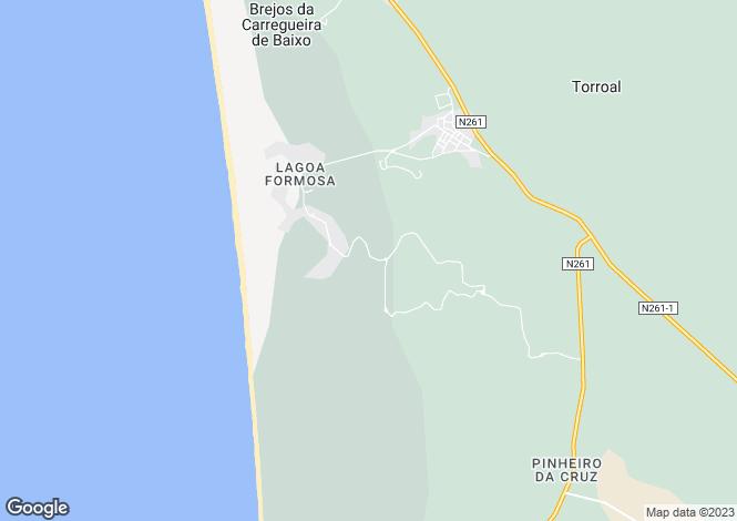 Map for Carvalhal, Grândola, Setúbal