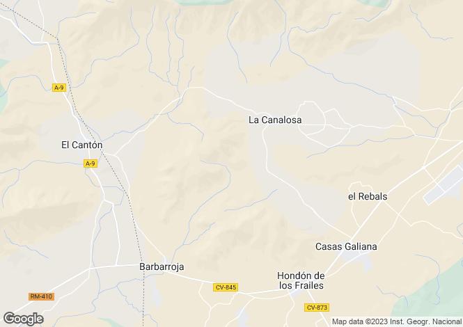 Map for La Canalosa, Alicante, Valencia