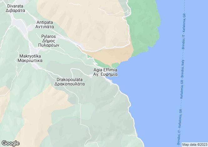 Map for Ionian Islands, Cephalonia, Agia Efimia
