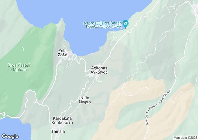 Map for Ionian Islands, Cephalonia, Agonas