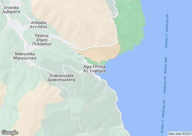 Map for Agia Efimia, Cephalonia, Ionian Islands