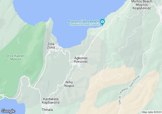 Map for Agonas, Cephalonia, Ionian Islands