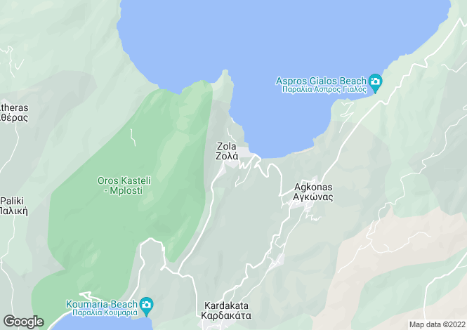 Map for Zola, Cephalonia, Ionian Islands