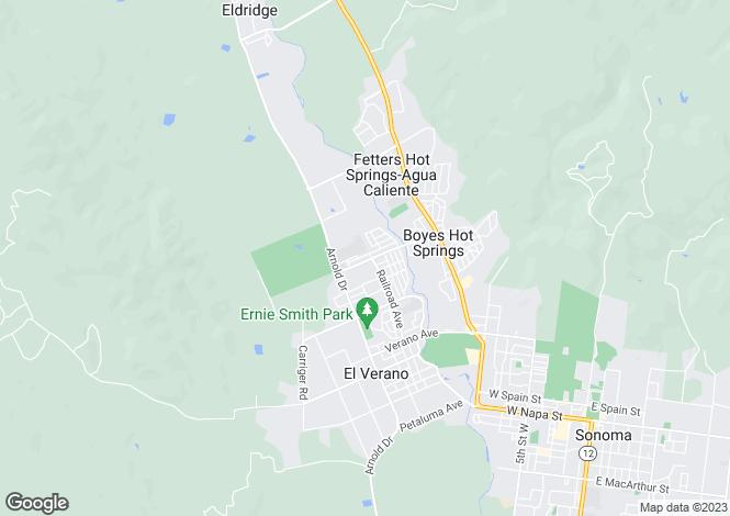 Map for California, Sonoma County, Sonoma