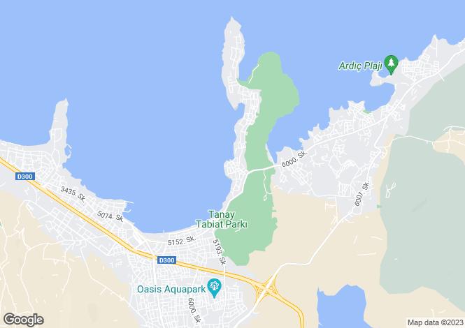 Map for Izmir, Bornova, Izmir