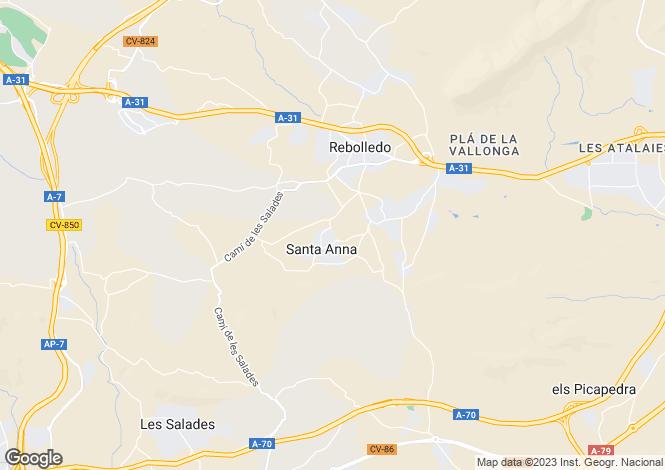 Map for Alicante, Alicante, Spain