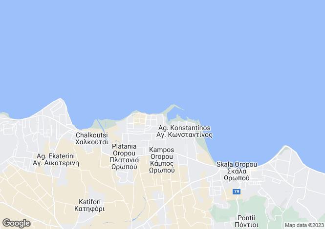 Map for Attica, Skala Oropou
