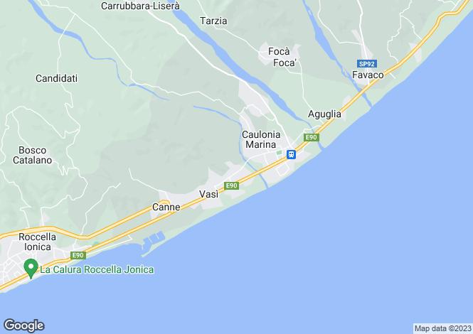 Map for Caulonia, Reggio di Calabria, Calabria