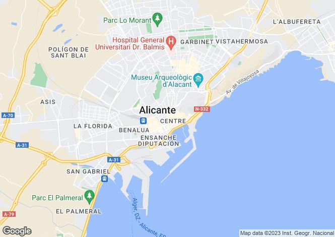 Map for Alicante, Alicante, Valencia
