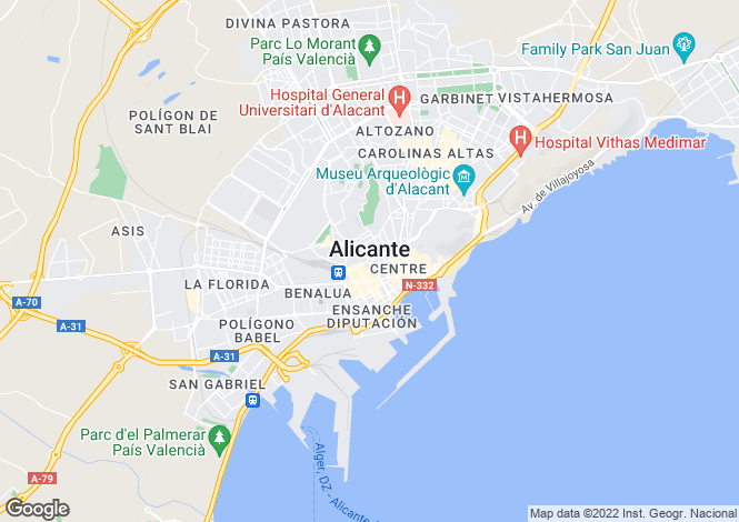 Map for Las Colinas Golf, Alicante, Valencia