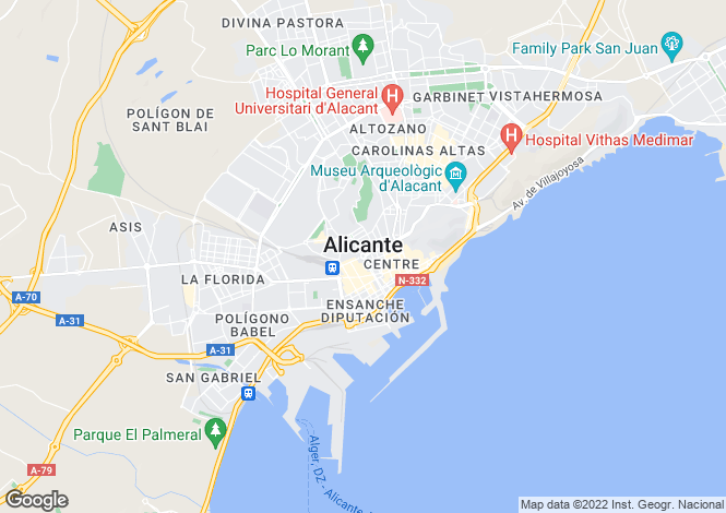 Map for Valencia, Alicante, Las Colinas Golf
