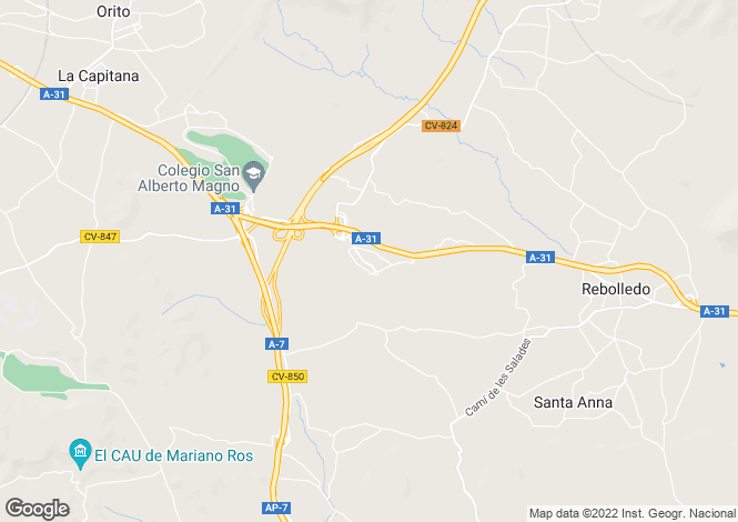 Map for Montefort Del Cid, Alicante, Spain