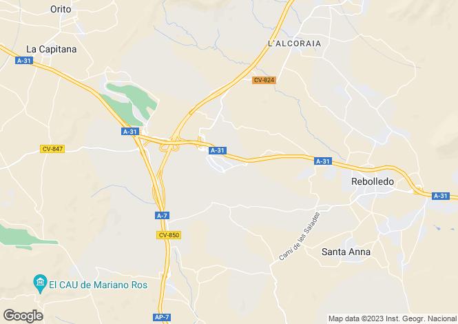 Map for El Rebolledo, Alicante, Spain