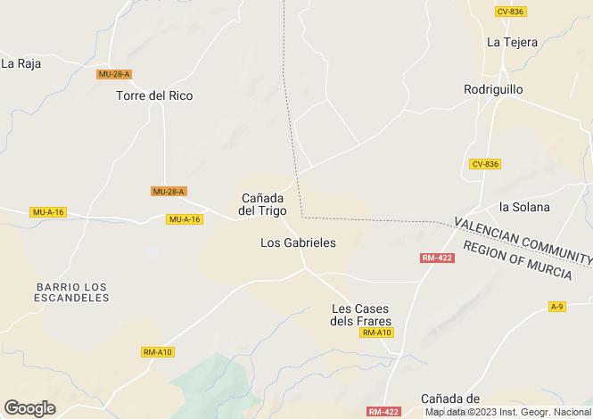 Map for Algueña, Alicante, Valencia