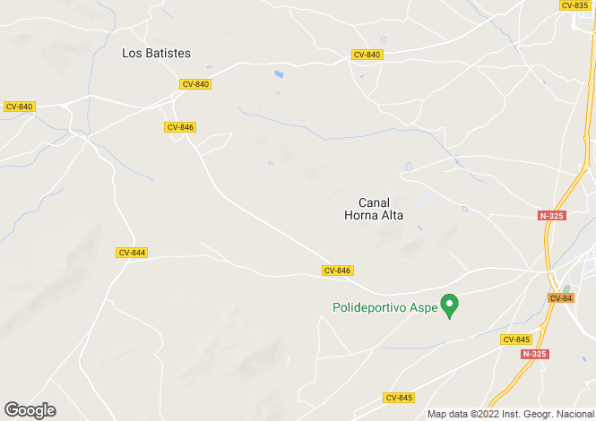 Map for Aspe, Alicante, Spain