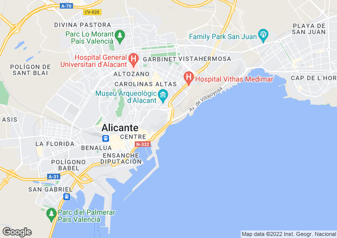 Map for Calle Virgen del Socorro, 73, Alicante