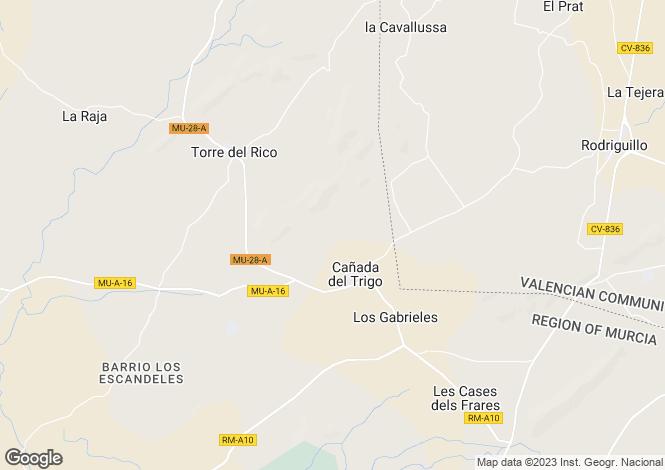Map for Murcia, Canada Del Trigo