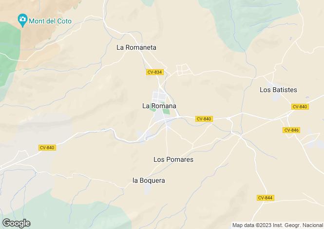 Map for La Romana, Alicante, Valencia