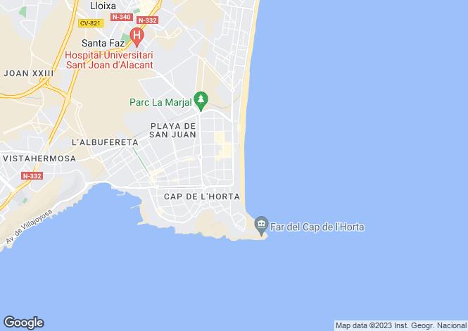 Map for San Juan de Alicante, Alicante, Valencia
