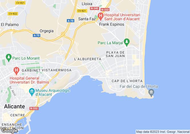 Map for Alicante Golf, Alicante, Valencia
