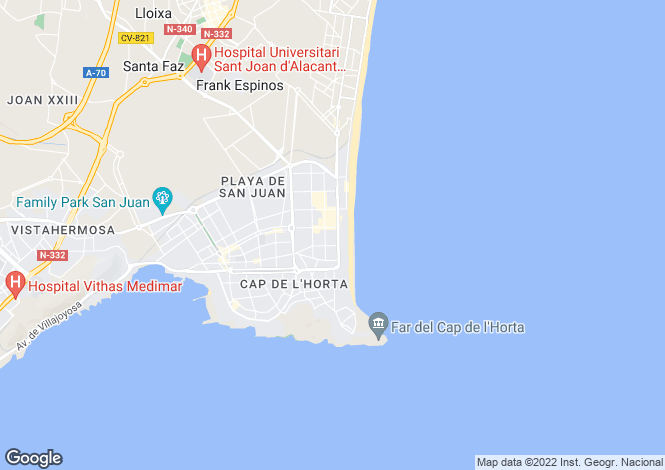 Map for Alicante, Alicante, Valencia