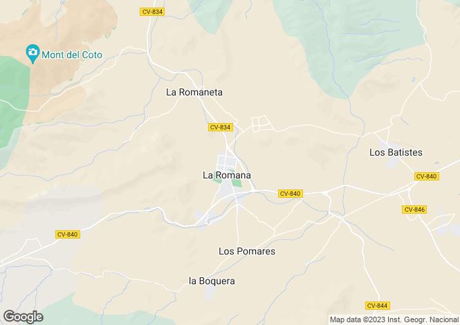 Map for La romana, Alicante