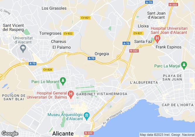 Map for Alicante, Valencia