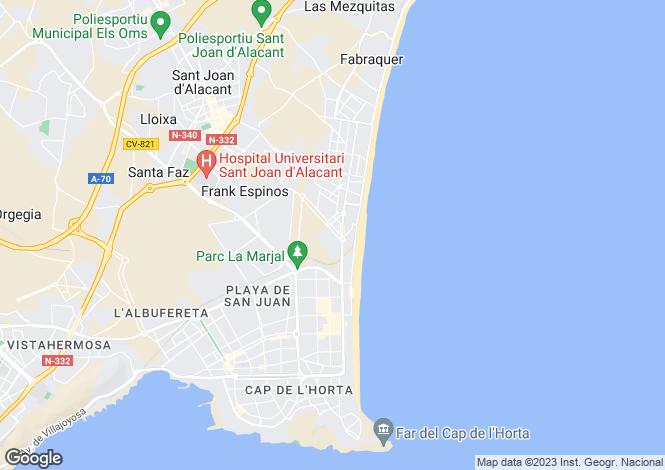 Map for Valencia, Alicante, Alicante Golf