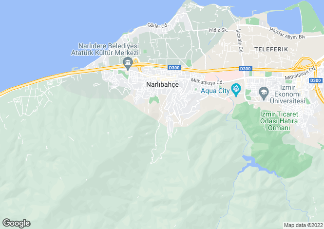 Map for Izmir, Konak, Narlidere