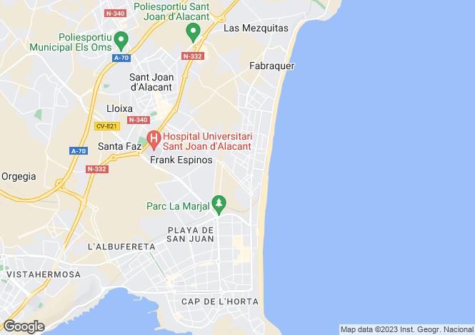Map for San juan, Alicante