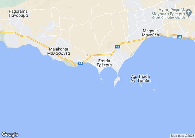 Map for Evvoia, Eretria
