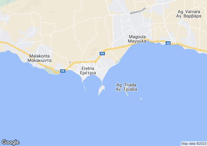 Map for Eretria, Evvoia