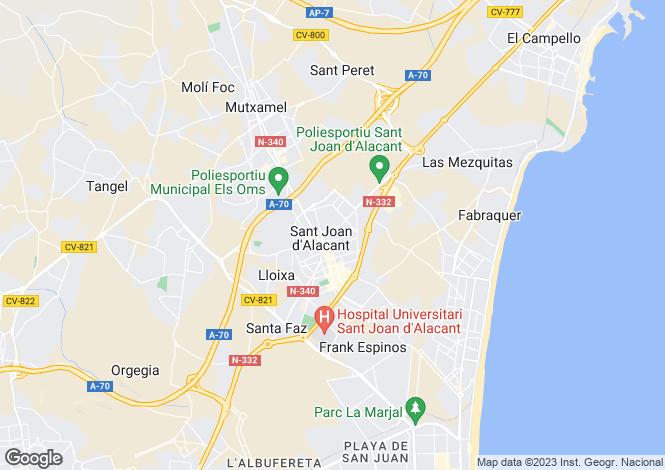 Map for San Juan de Alicante, Alicante