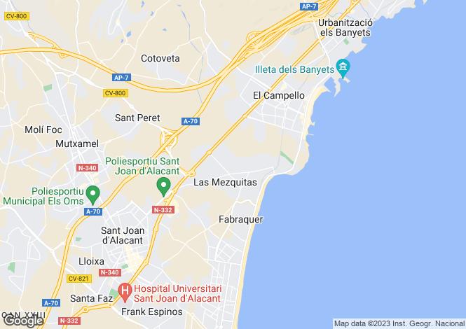 Map for San Juan Playa, Alicante