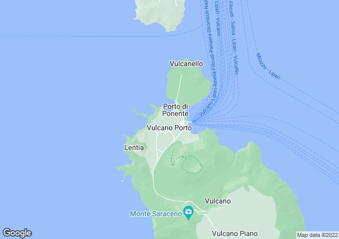 Map for Lipari, Messina, Sicily