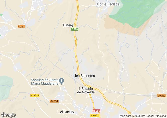 Map for Partida Salinetas, Novelda
