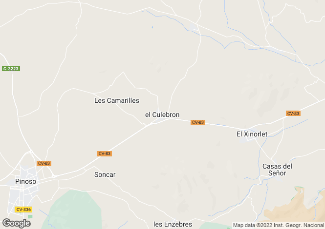 Map for Culebron, Alicante, Spain