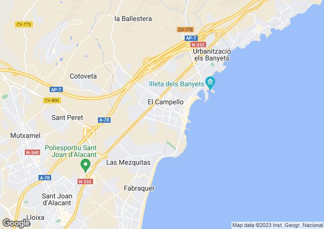 Map for Valencia, Alicante, El Campello