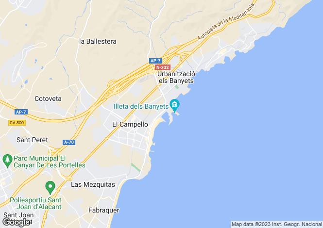 Map for El Campello, Alicante, Spain
