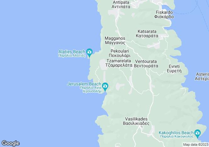 Map for Ionian Islands, Cephalonia, Chalikeri