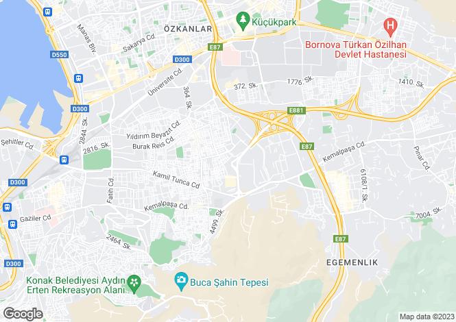 Map for Izmir, Bornova, Bornova