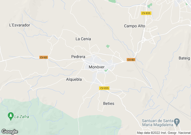 Map for Monovar, Alicante