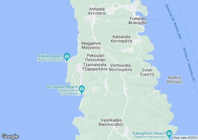 Map for Tzamarelata, Keffalonia