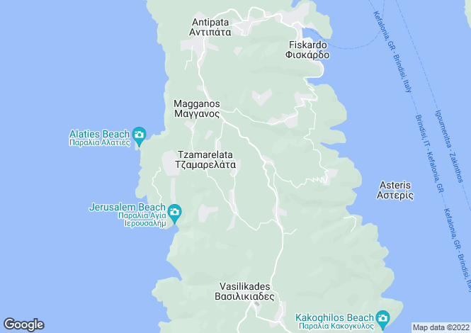 Map for Ionian Islands, Cephalonia, Touliata