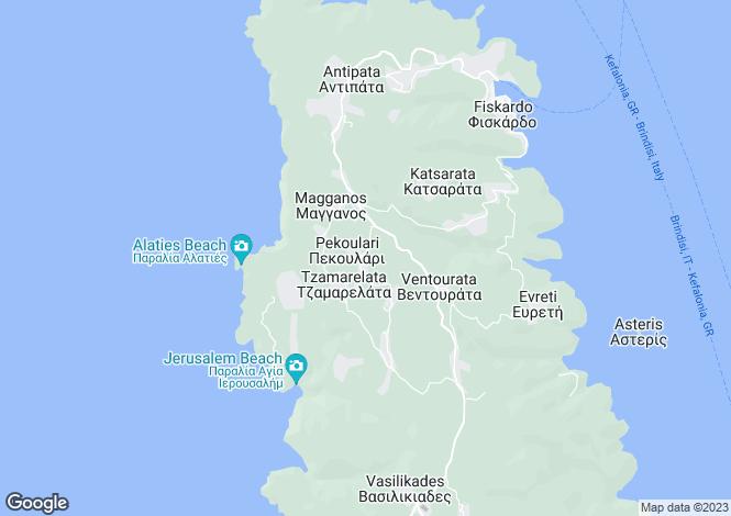 Map for Ionian Islands, Cephalonia, Pekulari