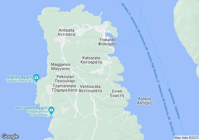 Map for Ionian Islands, Cephalonia, Matsoukata
