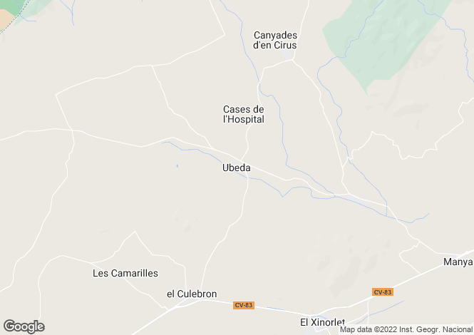Map for Valencia, Alicante, Pinoso